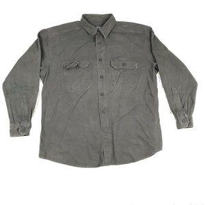 Woolrich Mens XL Button Down Flannel Shirt Green